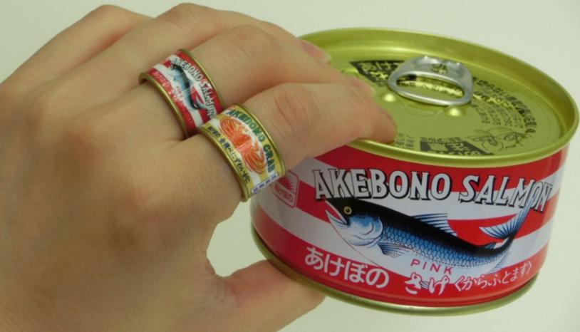 日本新扭蛋!罐頭變戒指
